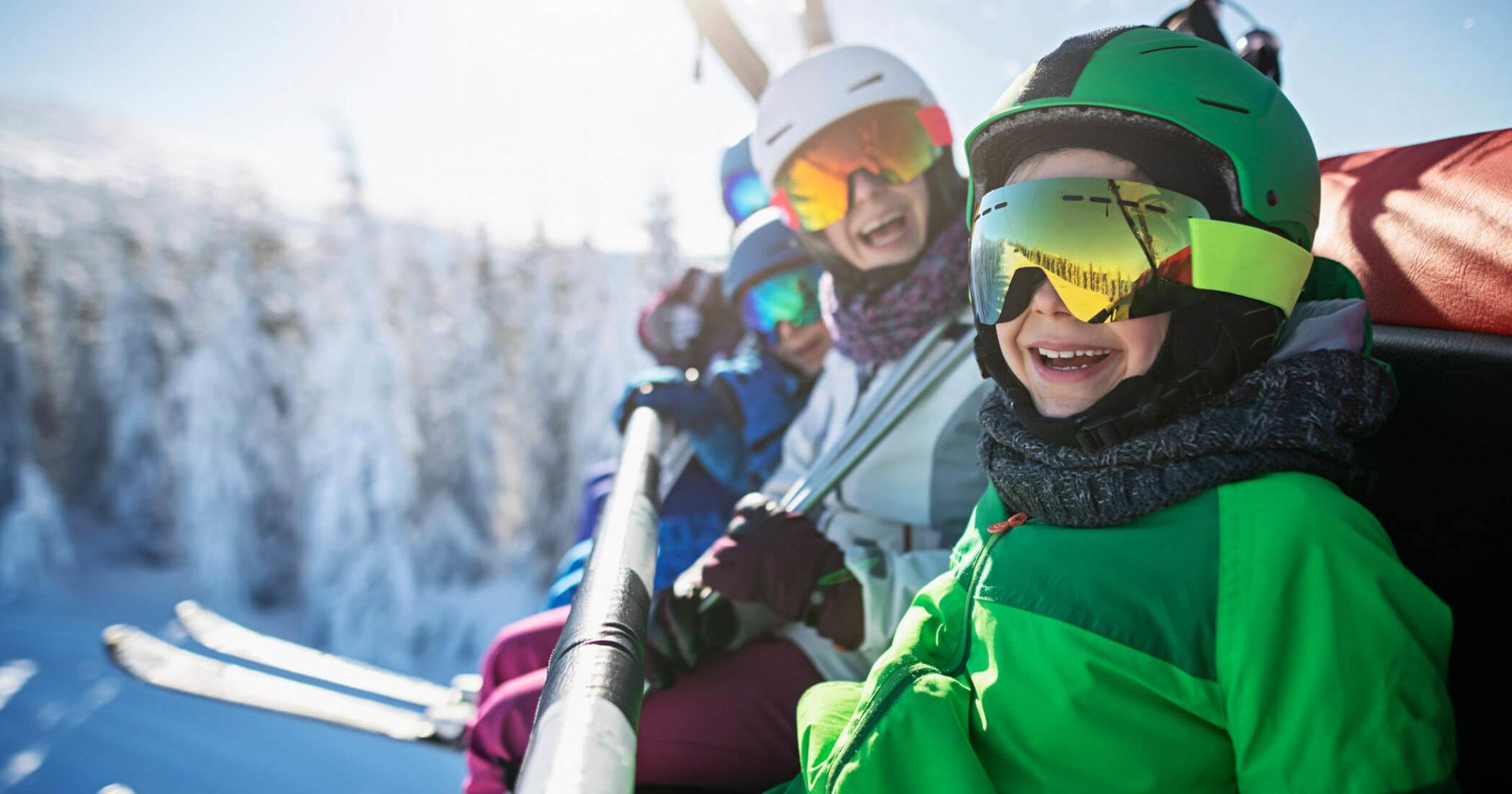 kids on ski weekend