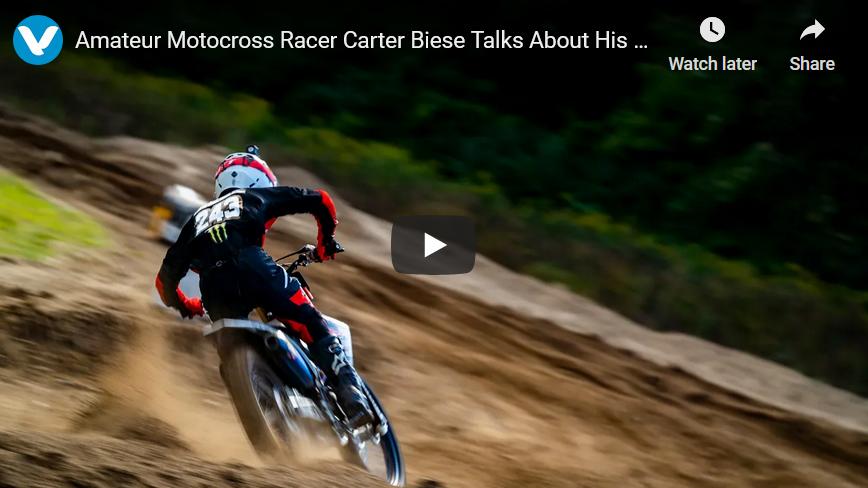 Motocross Racer Carter Biese